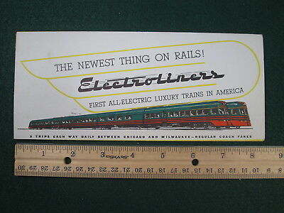 NSL North Shore Line Electroliner Introductory Name Train Brochure & Timetable