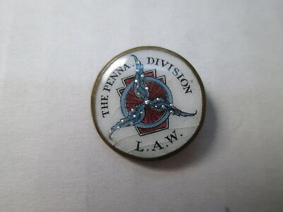 LAW League of American Wheelman  Lapel Pin - O'Hara Dial Co. Waltham, Mass.