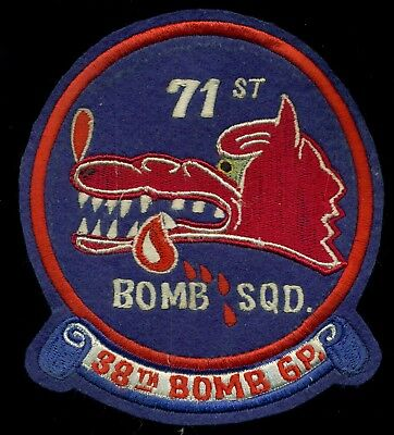 USAF 71st Bomb Squadron 38th Bomb Group Patch S-11