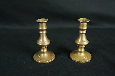 Excellent pair of Antique brass bronze candleholders ca. late 19th [Y8-W7-A8]