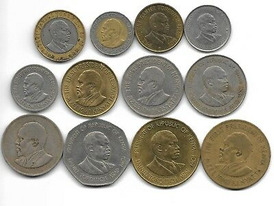 Kenya lot of 12 different coins