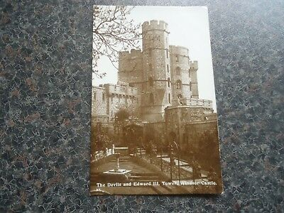 Postcard The Devils And Edward Iii Tower Windsor Castle 1920