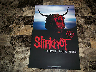 Slipknot Rare Authentic 2012 Promo Poster Antennas To Hell Corey Taylor Metal