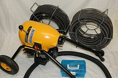 """Package Deal BLUEROCK Tools SDS200 2"""" - 8"""" Sectional Pipe Drain Cleaning Machine"""