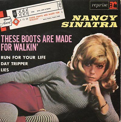 Nancy Sinatra, Ep, These Boots Are Made For Walkin + 3, Made In France, Año 19??