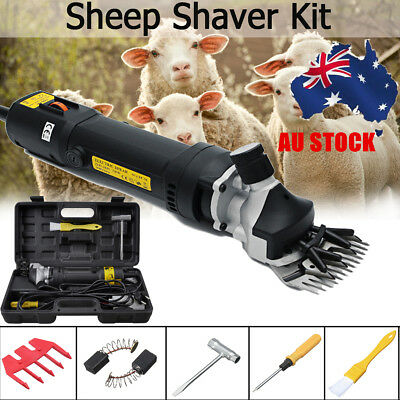 AU 6 Speed Electric Sheep Goats Clipper Shearing Shear Alpaca Farm Supplies 320W