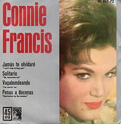 Connie Francis, Ep, I Can´t Stop Loving You + 3, Spanish Edit.1962