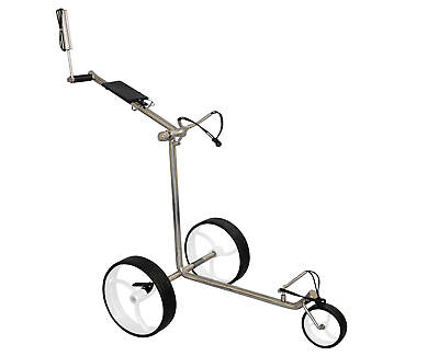 Tour Made RT-210S Stainless steel Bikes white 3-wheel Golf Push Trolley Caddy 17