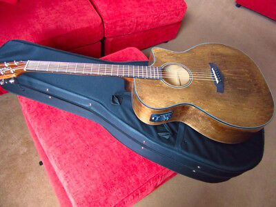 Great Sounding Electro Acoustic Guitar & New Case Walnut Woods Normal Price £429