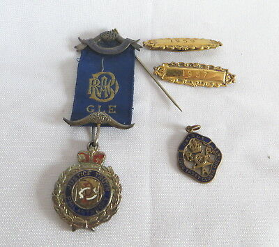 1919 Silver Raob Primo Jewel With Date Bars And Fob (26C)