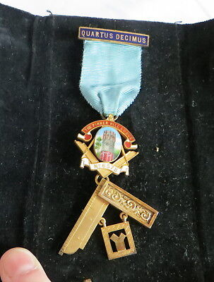 1961 Silver Masonic Craft Past Masters Breast Jewel - Pinner Hill 6578 (20C)