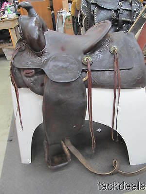Early Shipley Ranch Cowboy Saddle KC MO Good Working Condition Used