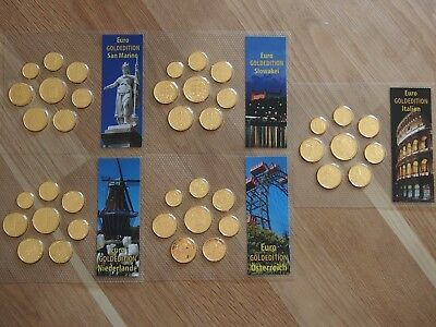 Euro KMS Europa Lot 5 KMS in Noppenfolie 5 x 1 Cent bis 2 Euro (3