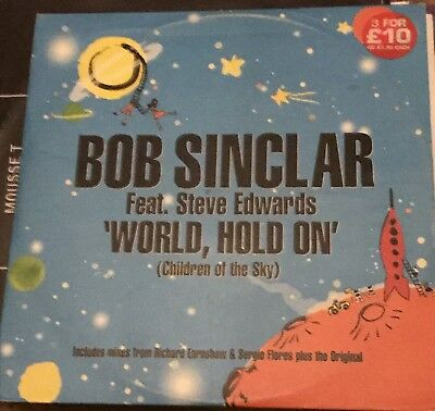 """Bob Sinclair Feat . Steve Edwards . WORLD HOLD ON ( Children Of The Sky ) 12"""""""
