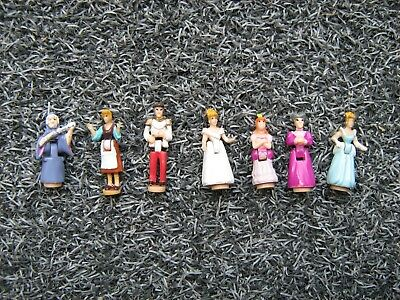 """Vintage/Collectable"" - Polly Pocket - 7 x CINDERELLA figures - 1995"