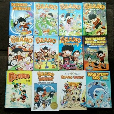 Beano annuals bundle. Mostly mint condition. 12 books.