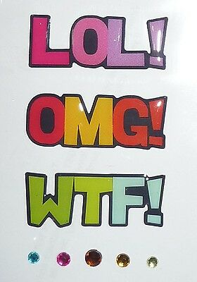 LOL! OMG! WTF! Design Stickers for Apple iPhone/iPad/iPod & Smart Phone Decal