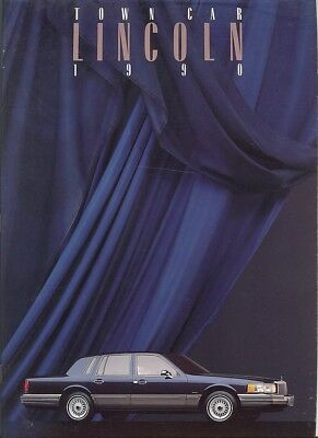 1990 Lincoln Town Car Signature Series & Cartier Deluxe Sales Brochure