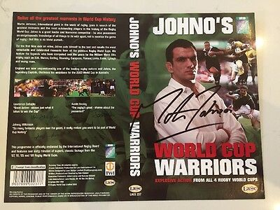MARTIN JOHNSON ENGLAND  RUGBY HAND SIGNED DVD COVER 100% Genuine WORLD CUP