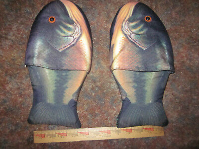Fish Slippers Shoes Bass Large Size Novelty Gag Gift