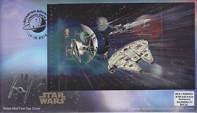 Gb Stamps First Day Cover 2015 Star Wars 01 Prestige Pane Rare Pmk Collection