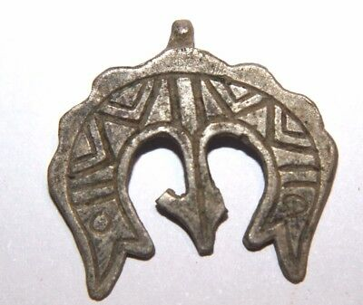 Viking Silver Pendant Dragons  12th century AD