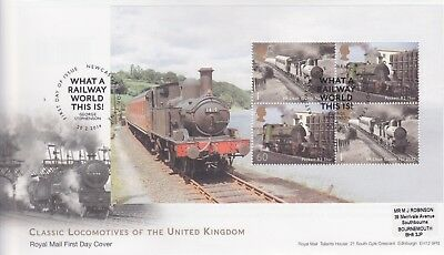 Gb Stamps First Day Cover 2014 Uk Railways 02 Prestige Pane Rare Pmk Collection