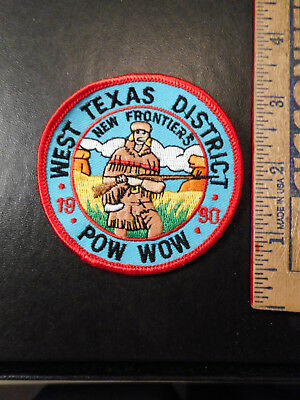 Royal Rangers West Texas District New Frontiers 1990 Pow Wow Patch  106TB.