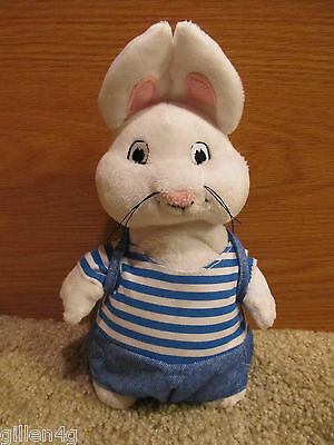 """Max & Ruby 10"""" Soft Plush Max W/ Backpack Doll Toy Adorable *ln"""