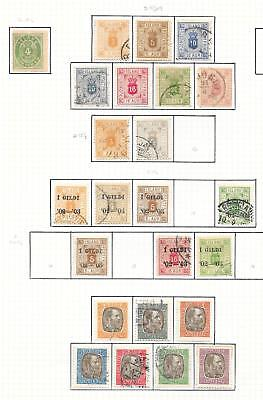 Iceland stamps 1873 Collection of 24 SERVICE stamps HIGH VALUE!