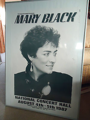 Mary Black Concert Gig Poster 1987 Fully Dated Dublin Unreleased A Vintage Gem!