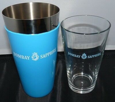 New* Bombay Sapphire Cocktail Martini Shaker  Bar Man Cave Gin Collectible Party
