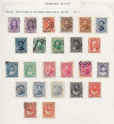 Hawaii stamps 1864 Collection of 24CLASSIC stamps HIGH VALUE!