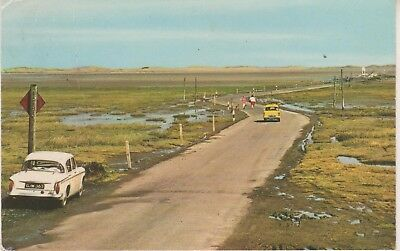 Holy Island. The Tidal Road. Postcard with crease damage. Unused