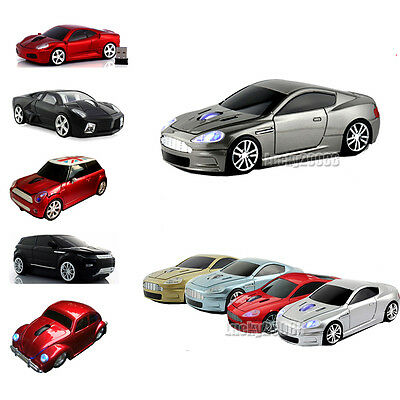 HOT Cordless 2.4Ghz Wireless Optical Car Mouse Laptop PC Game Mice +USB Receiver