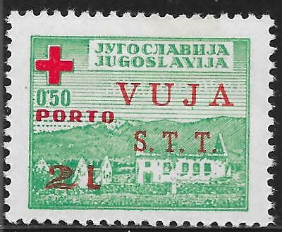 Triest-B stamps 1948 MI Zwangzuschlagportomarken 1 RED CROSS MLH VF