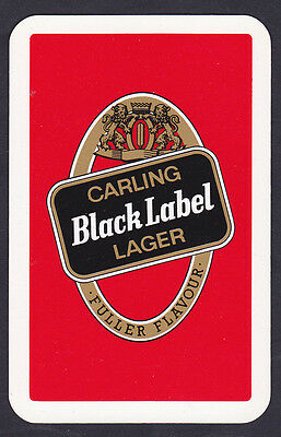 Carling Black Label Lager,Single playing Card