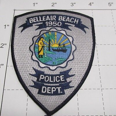 Belleair Beach Police Dept Bbpd Bell Air Bch State Seal Colorful Florida  Patch