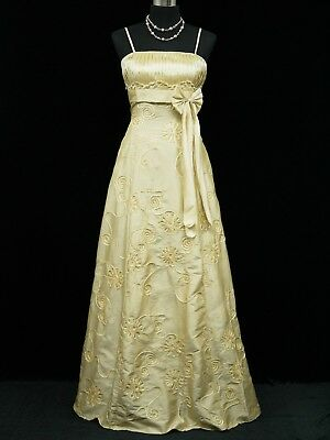 Cherlone Ivory Ballgown Bridesmaid Wedding Evening Full Length Dress Size 14