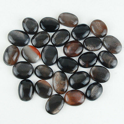 608 Cts/27 Pcs Finest Quality Golden Black Natural Moonstone Cabochons Wholesale