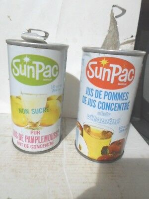 Qty = [2] Sunpac Canadian 10 Ounce Straight Steel Collectible Cans
