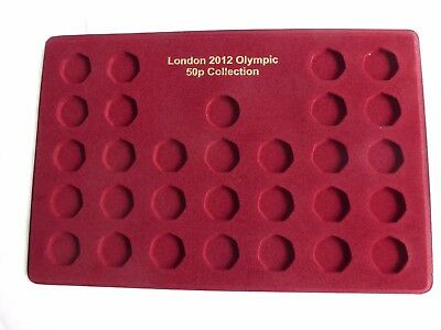 2012 London Olympic 50p Collection Tray Empty