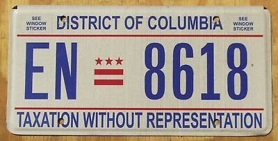WASHINGTON DC - DISTRICT of COLUMBIA license plate   2013  EN 8618