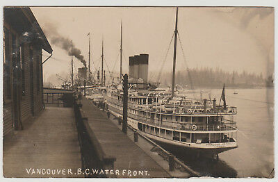"""BC - VANCOUVER, 2 Cards, S.S. """"Princess Victoria"""" at C.P.R. Docks c.1900s-1920s"""
