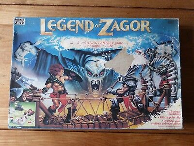 Rare LEGEND OF ZAGOR Electronic 3D Fighting Fantasy Board Game - Parker 1993