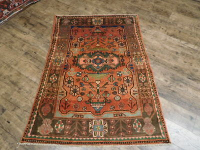 Ca1930 VGDY ANTIQUE PERSIAN HERIZ SERAPI VISS KARACHE 3.6x5 ESTATE SALE RUG