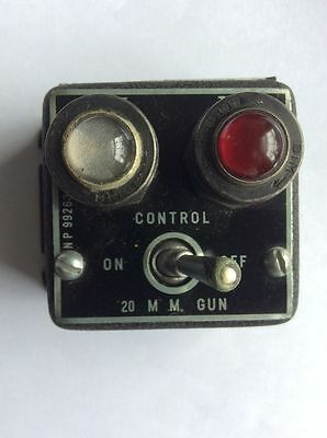 WWII P-51 MUSTANG 20 MM GUN CONTROL SWITCH *US Army Air Force * NICE! Cannon