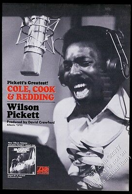 1970 Wilson Pickett photo Right On record release vintage trade print ad