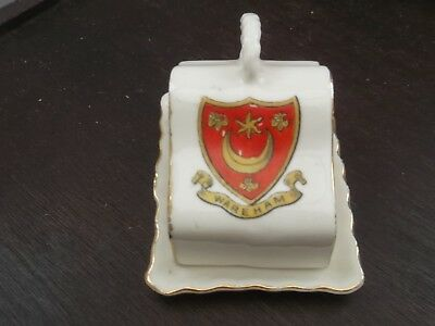 Vintage Model Of A Cheese Dish And Base  Crested Wareham By Gemma