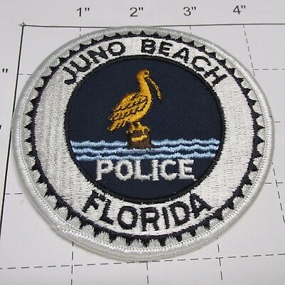 Old Juno Beach Police Dept Jbpd Sea Gull Bird Vintage Colorful Florida  Patch